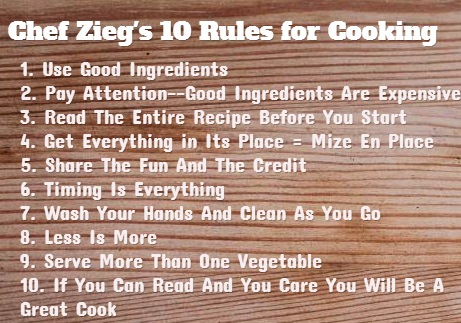 Tim S Ten Rules For Cooking